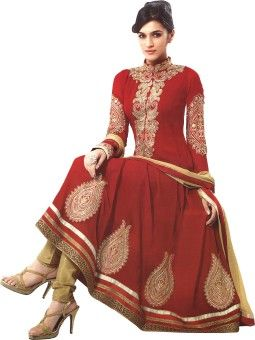 982c56a28d Reya Georgette Embroidered Semi-stitched Salwar Suit Dupatta Material