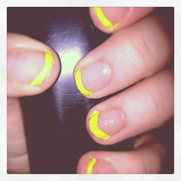 Done using #LA #Colors garlic nail strengthener and Salon Perfect ...