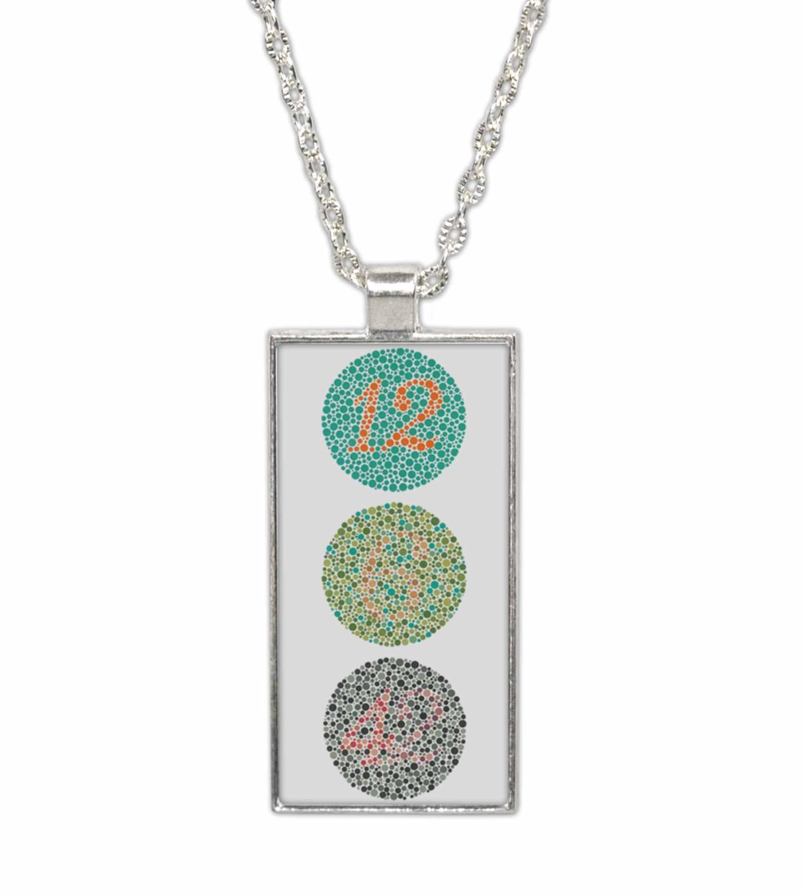 Color Blindness Test Pendant Necklace