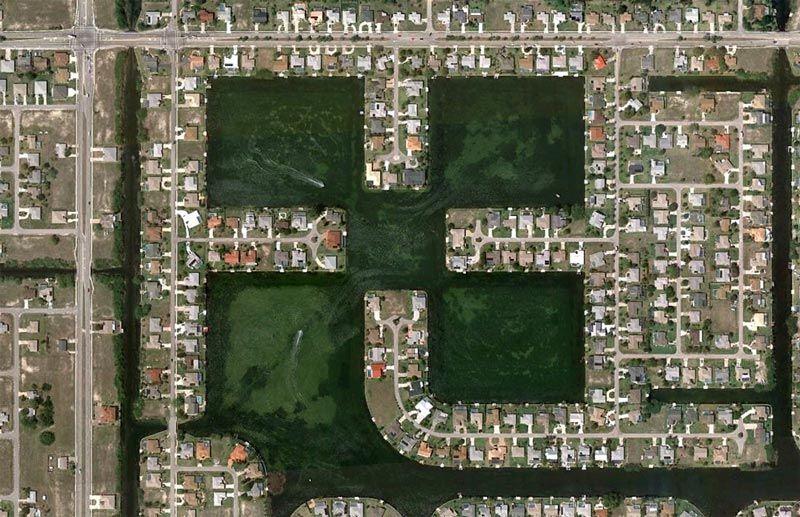 patrones de antena de urbanizaciones humanos en Google Maps (3)