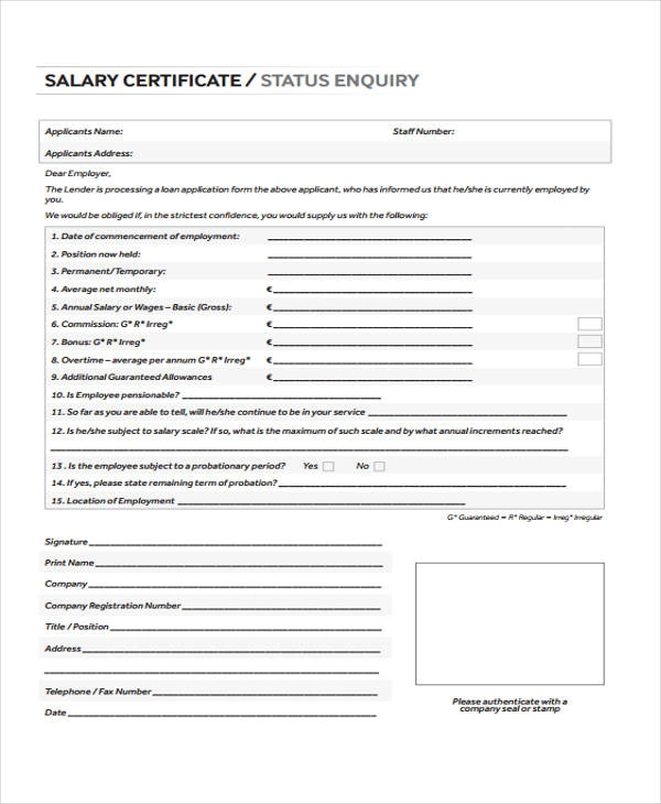 15+ salary certificate templates resume writing for college students preschool teacher with no experience academic cv masters application