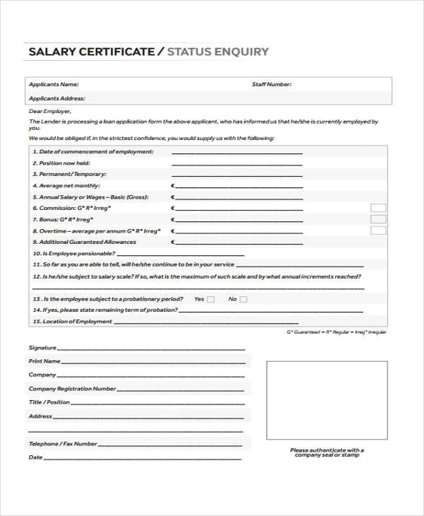 15+ Salary Certificate Templates Certificate templates