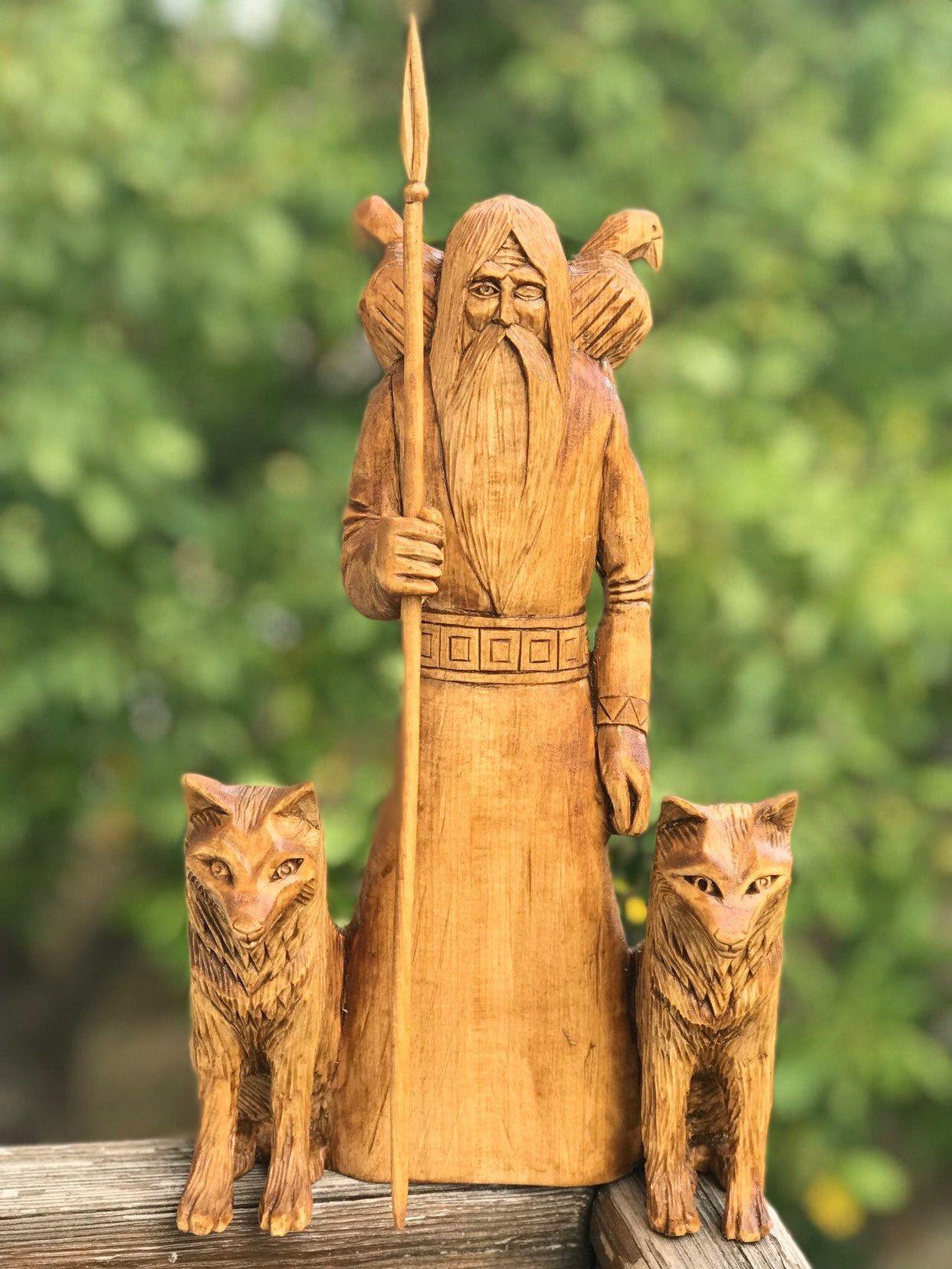 Odin, the statue of Odin, Nordic God, Scandinavian God