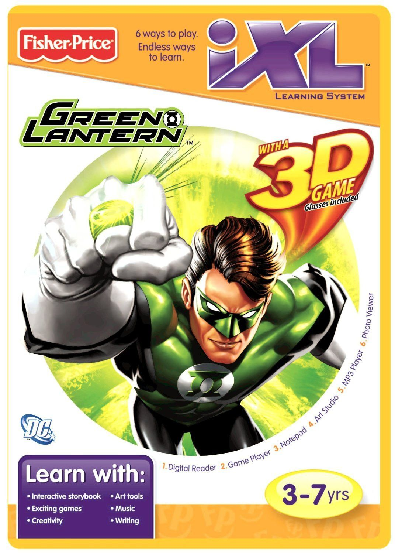 FisherPrice iXL Learning System Software Green Lantern 3D