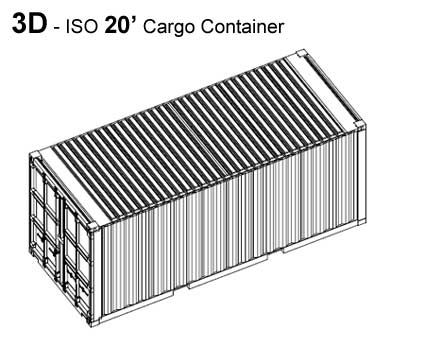 Cargo Containers Sizes For Small Home Building    CAD Drawings