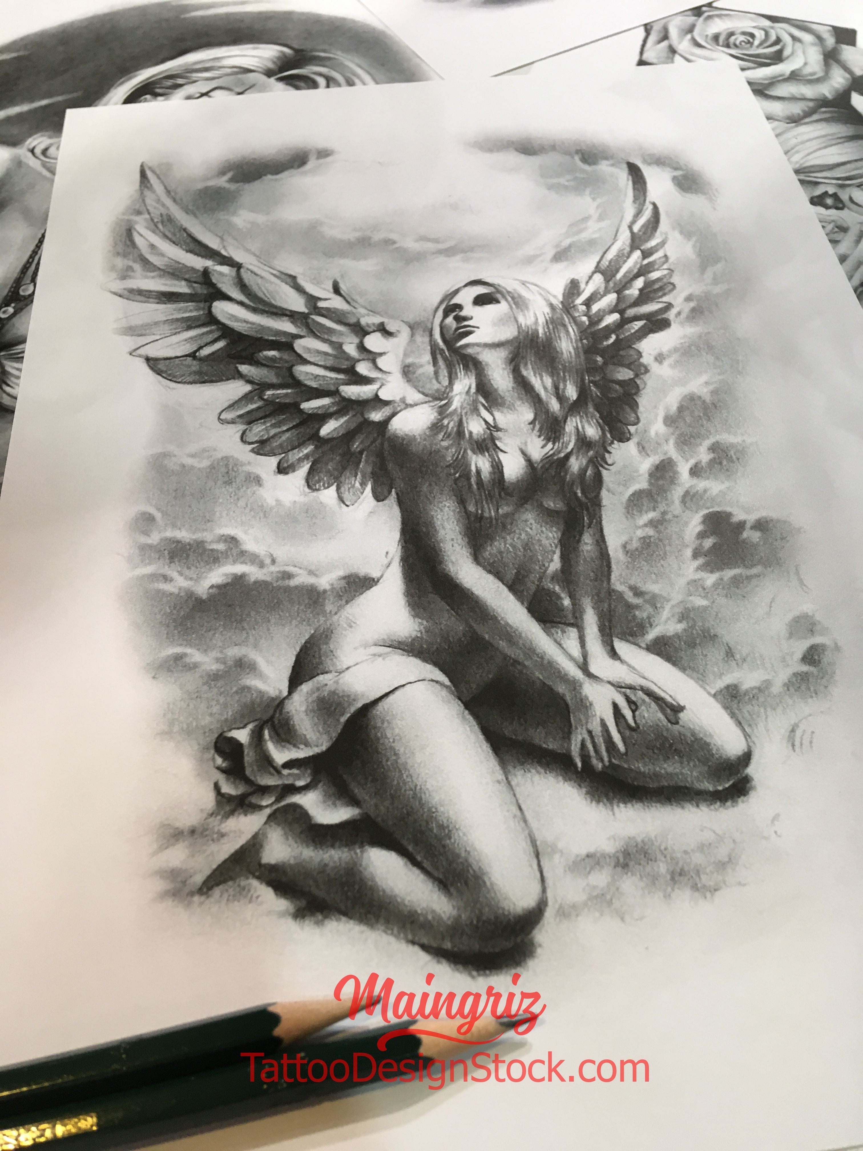 Chicano angel tattoo design download 1 Ангел
