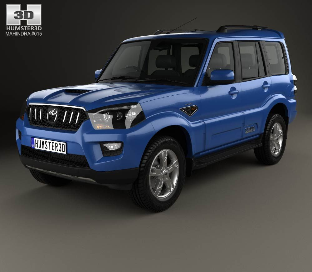 3d Model Of Mahindra Scorpio 2015 Scorpio Car New Mahindra