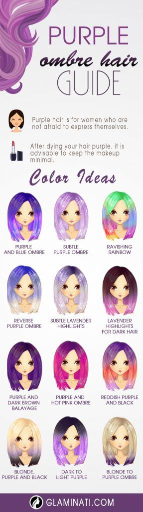 Purple Ombre Hair Looks To Stand Out