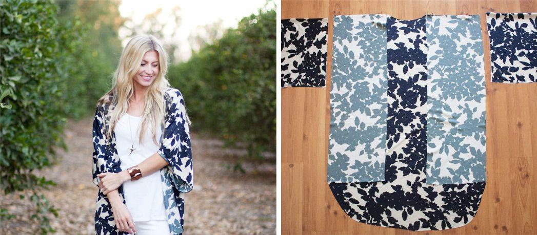 Tuto manteau kimono femme