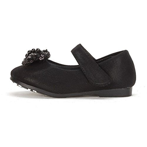 Dream Pairs ANGEL-88 Mary Jane Bow Rhinestone/Pearls Embelishment Throughout Velcro Walker Ballerina Flat, ANGEL-88-BLACK, 9 M US Toddler - http://all-shoes-online.com/dream-pairs/9-m-us-toddler-dream-pairs-angels-mary-jane-bow-flat-6