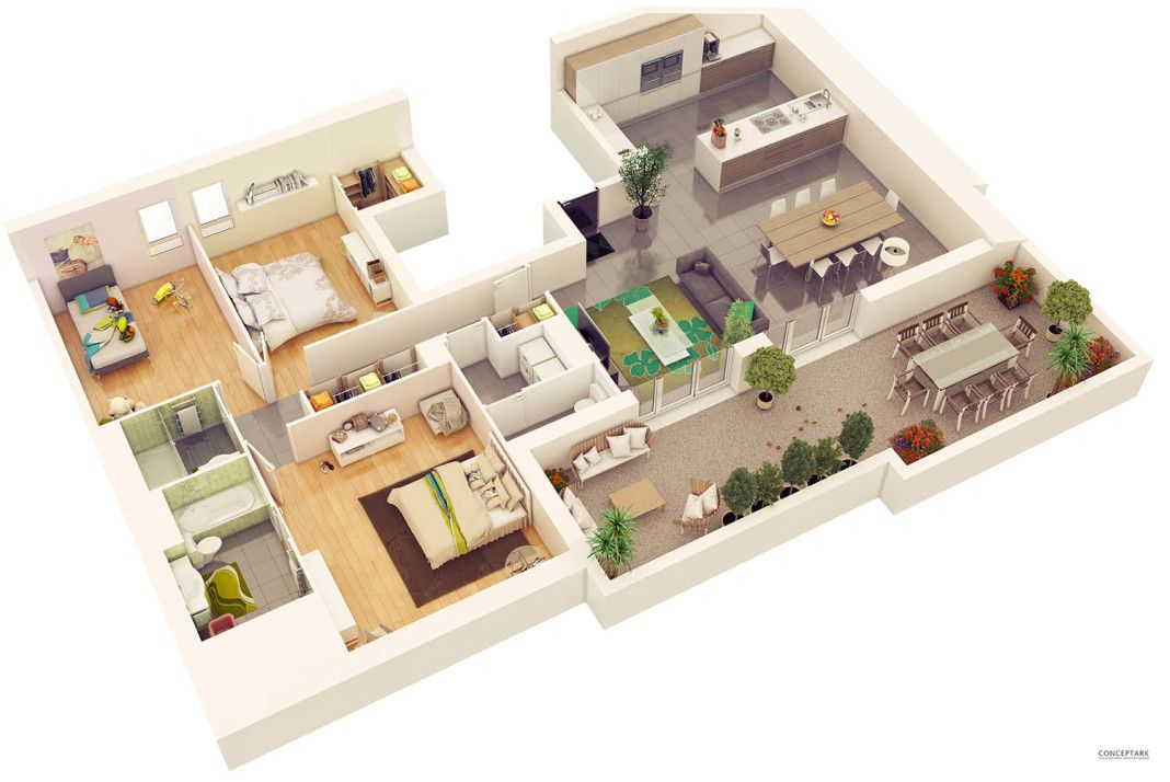 Plans Coupes 3d Ornex 01 Architecture Magazines Floor Plans Online Architecture