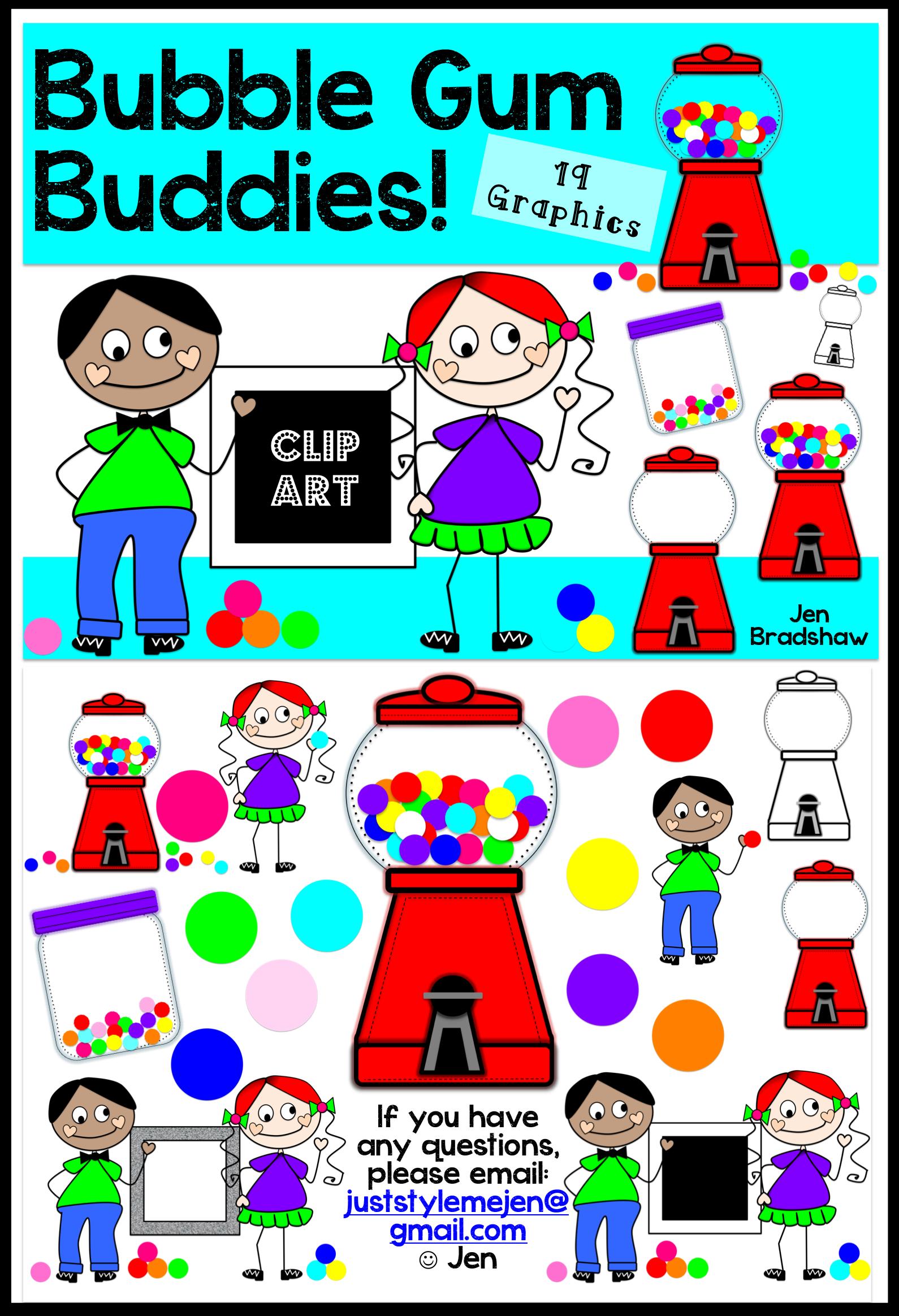 Bubble Gum Bud S Clip Art 19 Graphics With Bubble Gum