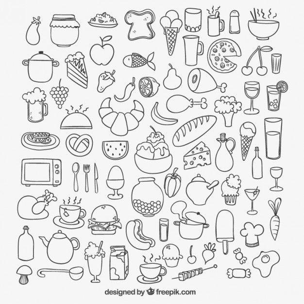 100 recursos gratuitos para restaurantes | Doodles, Bullet ...