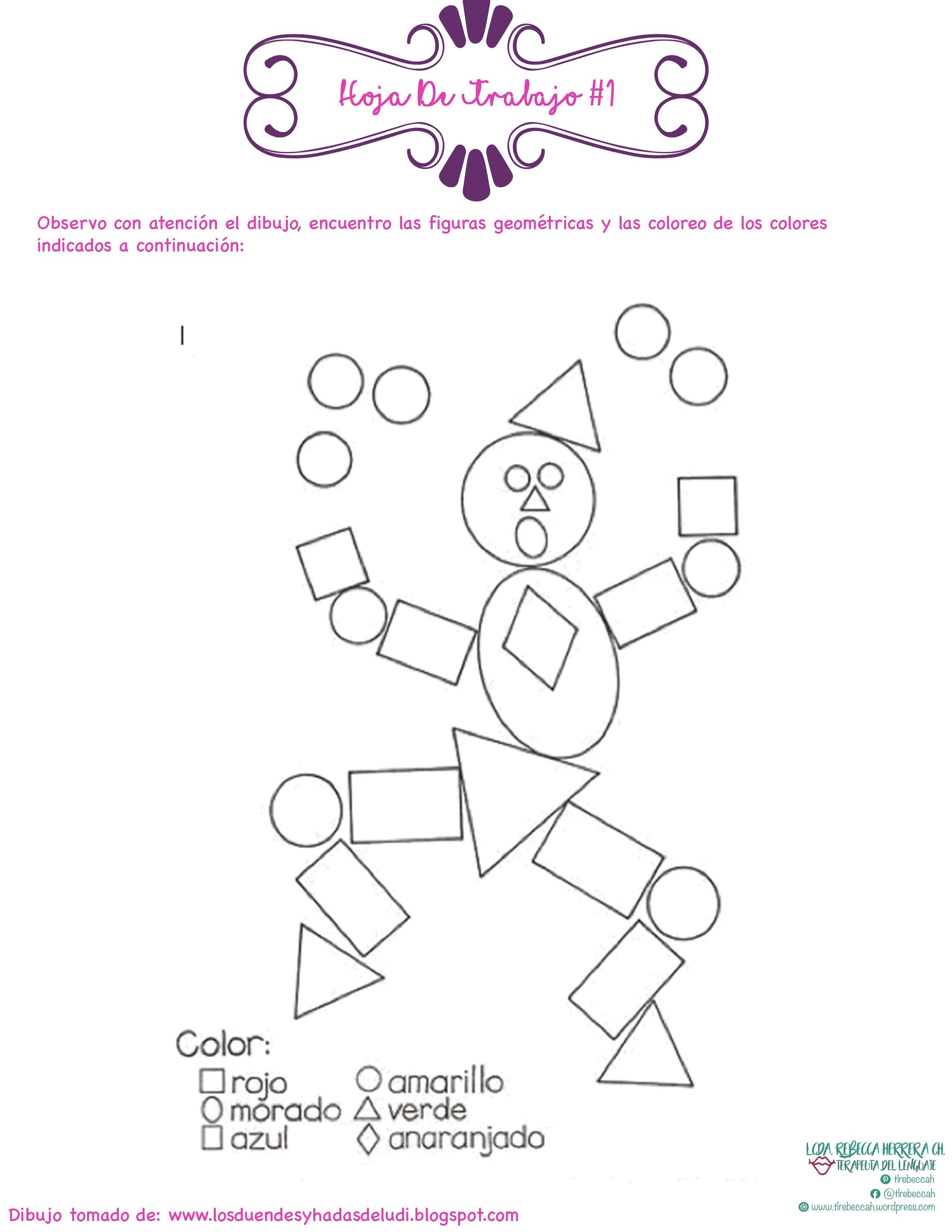 Percepción Visual: Hoja De Trabajo #1 03 | Actividades Para ...