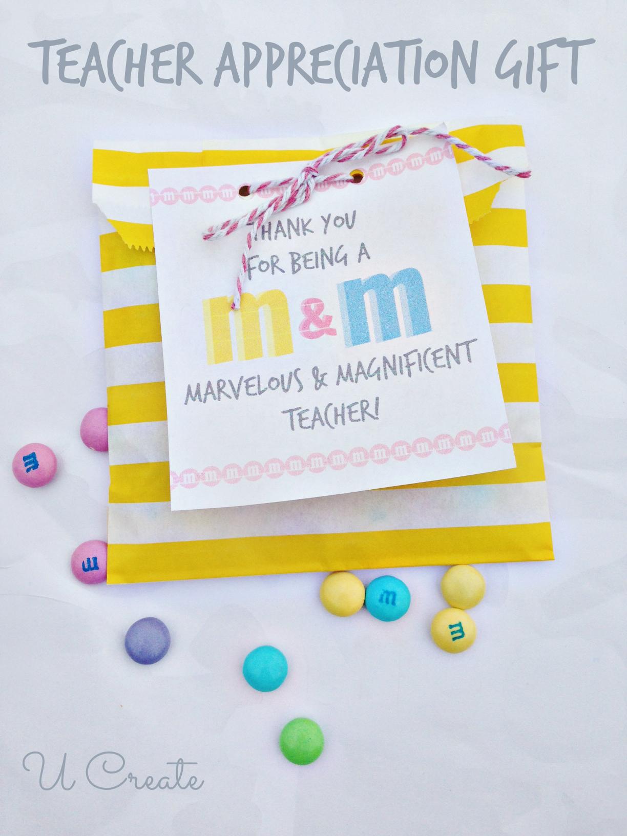 M Amp M Free Printable Teacher T Idea By U Create