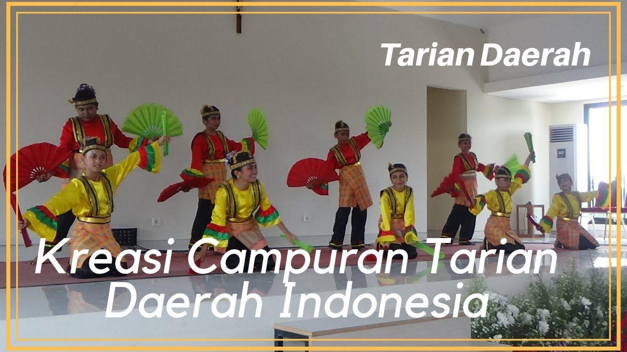 Kreasi Campuran Tarian Daerah Indonesia Dengan Gambar Penari