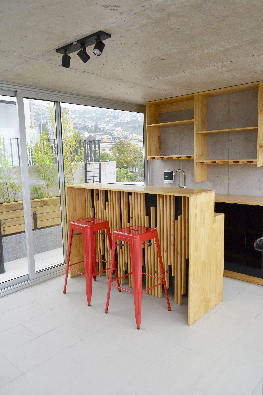 Mueble de Bar terraza, Hotel Verso, Cerro Florida, Valparaiso, Chile ...