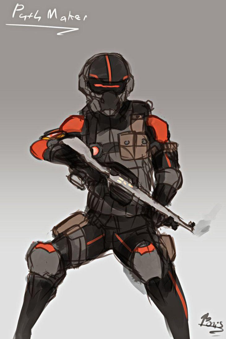 RWBY OC FANART - Path Maker Lieutenant by Nakama-Raibor | Rwby