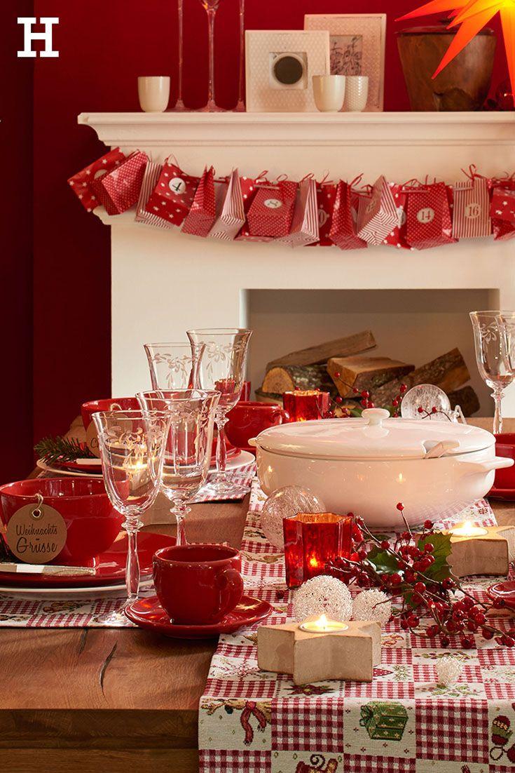 Der weihnachtstisch ist fertig die g ste k nnen kommen for Tischdekoration weihnachten dekoration