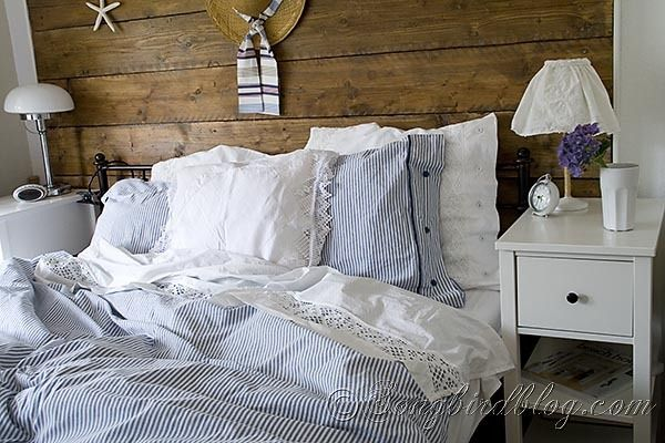 Summer Bedroom With Blue And White Bedding At Songbirdblog 17 Copy