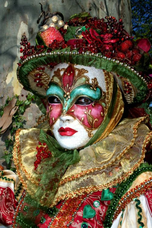 Carnevale di Venezia, Italy  The eloborate masks are works of art. The Carnival ends with the Christian celebration of Lent, forty days before Easter.