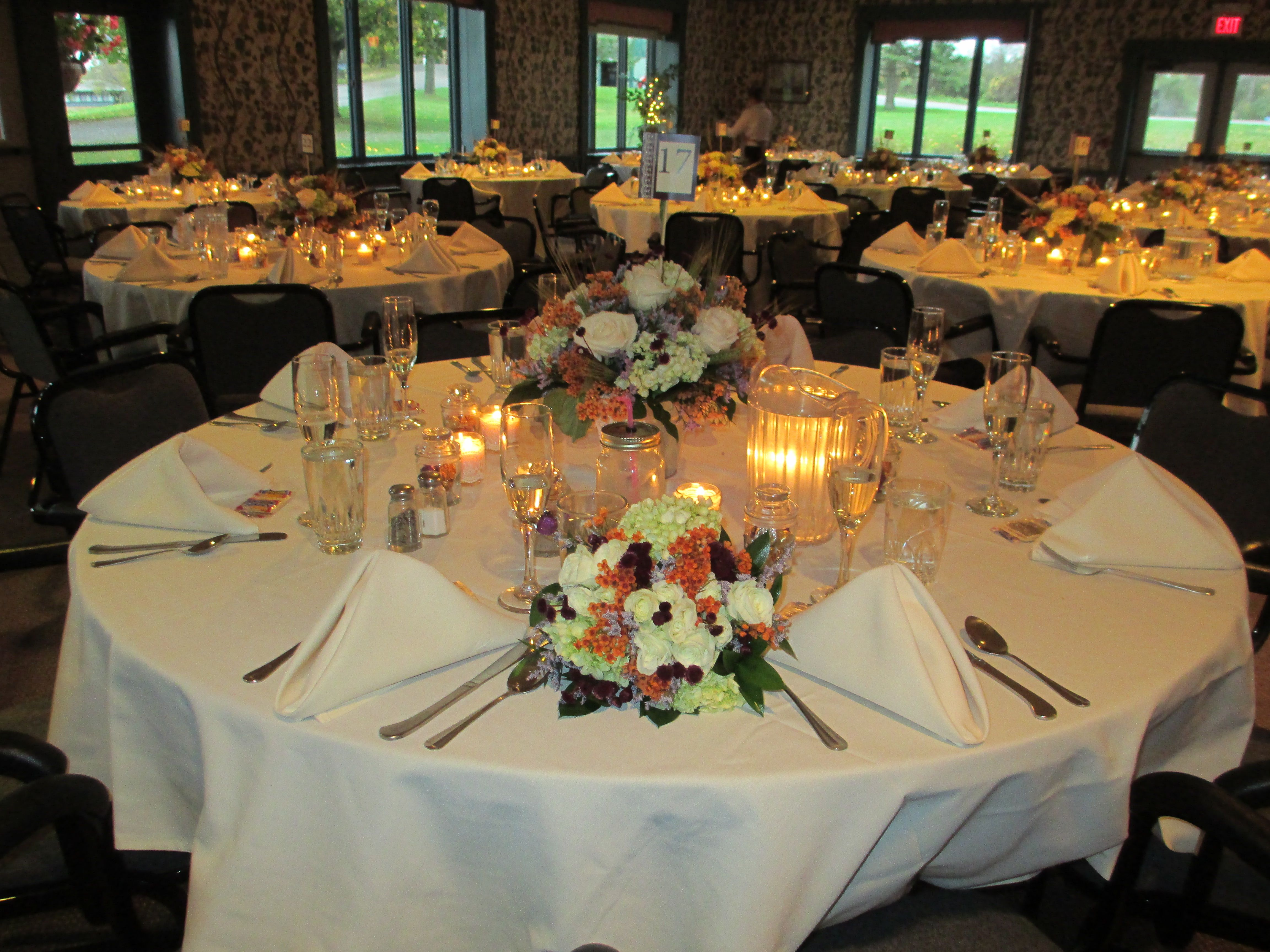 A Pretty Table For Wedding Reception In The Meeting Center At Genesee Country Village