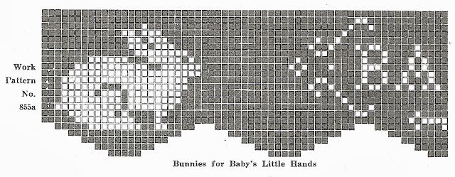 Sentimental Baby: Crocheted Bunny Edging for Baby Linens