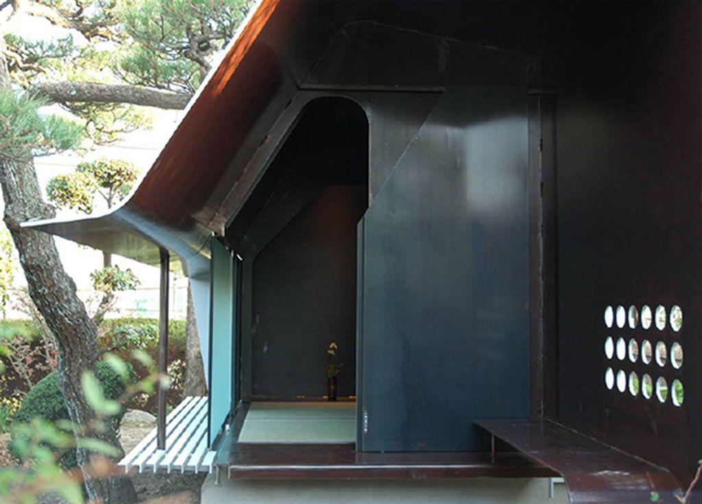 Modern Japanese Tea House Sheet Metal Architecture In Japan Tea House Design Japanese Tea House Tea House