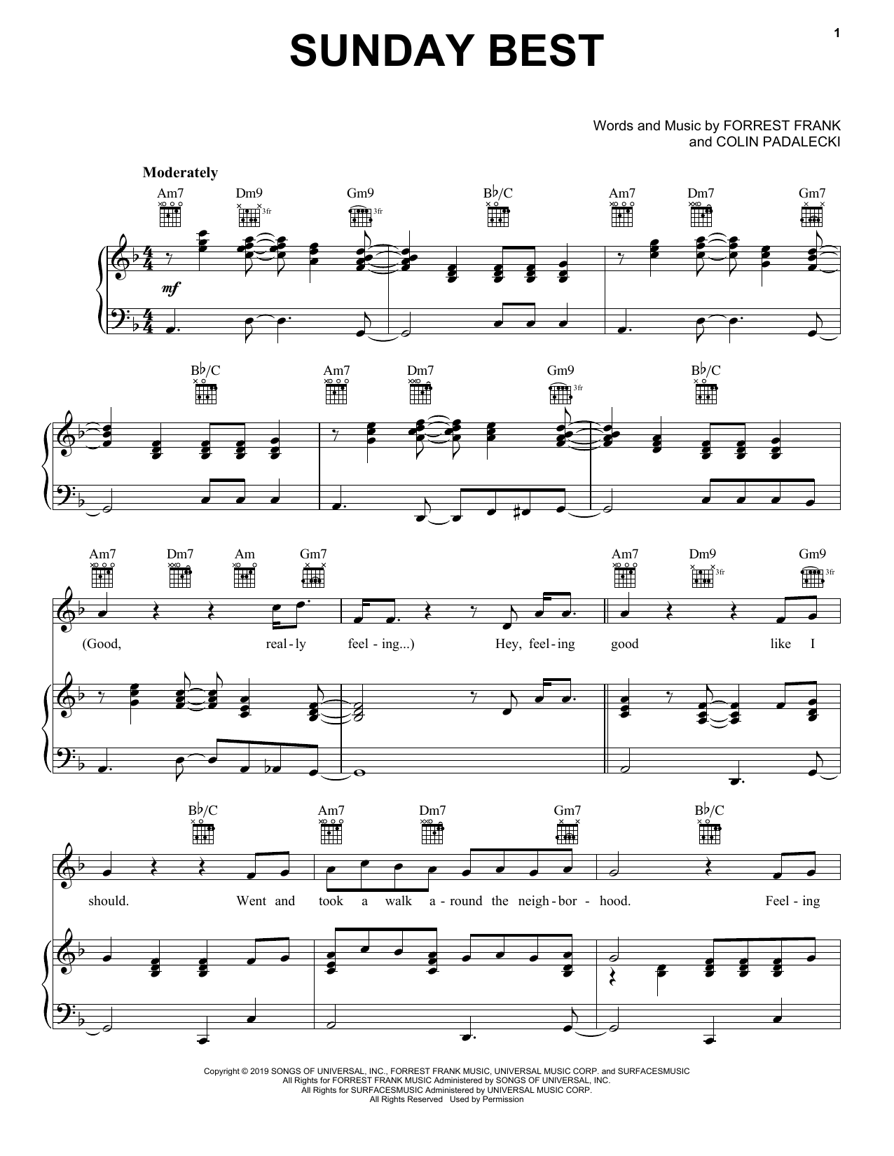 Surfaces Sunday Best Sheet Music And Printable Pdf Music Notes Sheet Music Sheet Music Notes Song Notes