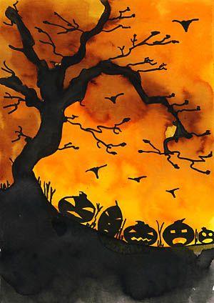 Halloween Uh Jetzt Gruselt S Aber Herbst Kunst Halloween Kunst Kunst