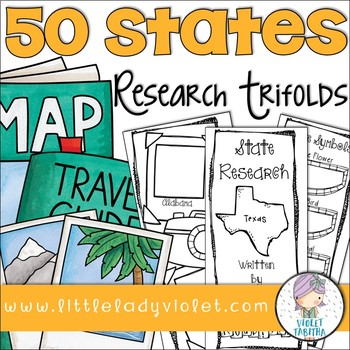 50 States Research Project Report Trifold Brochures 50 states - research project report