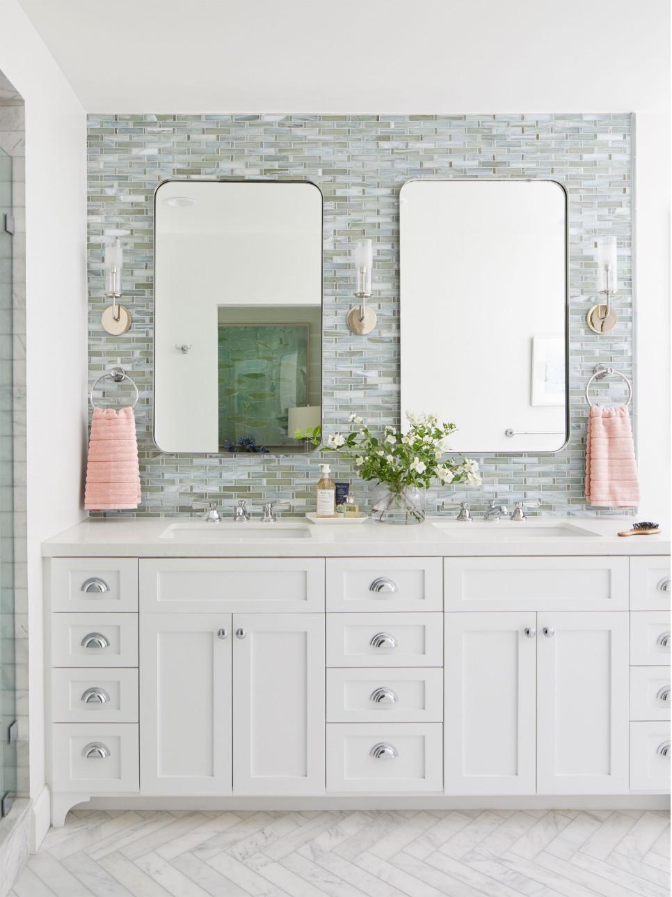 40 Chic Bathroom Tile Ideas Bathroom Wall And Floor Tile Designs Hgtv Bathroom Tile Designs Tile Bathroom Bathroom Wall Tile