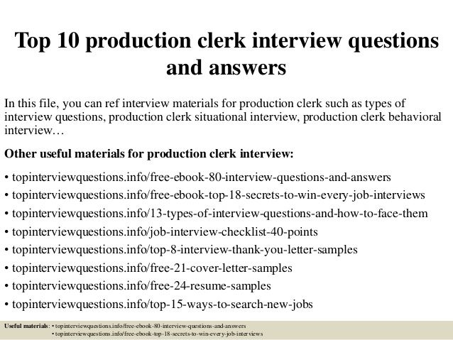 Image result for production clerk Job Club Pinterest - production clerk sample resume