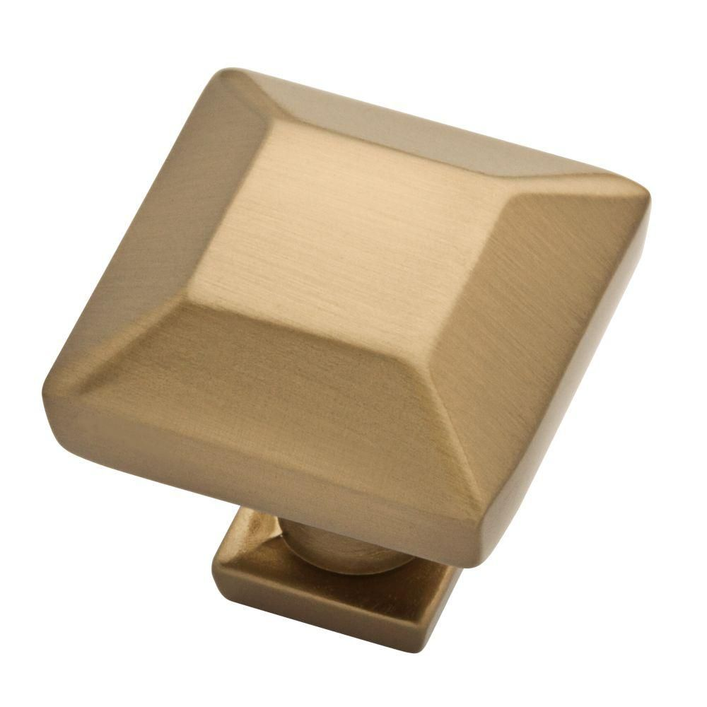 Martha Stewart Living Beveled Square 1 in. (25mm) Champagne Bronze Cabinet Knob