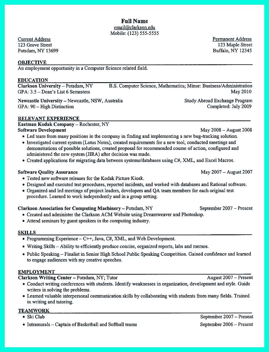 Cool The Perfect Computer Engineering Resume Sample To Get Job Soon Check More At Http Snefci Org The Perfect C Student Resume Resume Skills Resume Examples