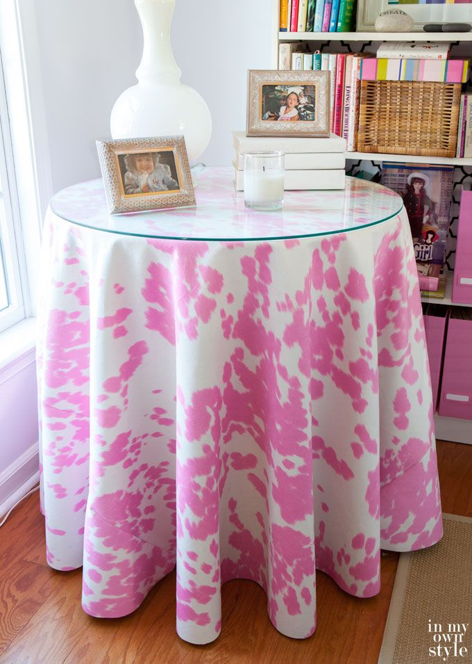 How To Make A Round Tablecloth Round Tablecloth Diy Tablecloth