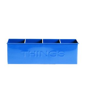 Things Metal Bin Blue, $15, now featured on Fab.
