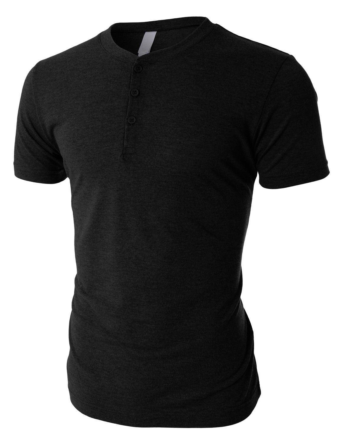cfbef4da534 This tri-blend short sleeve henley shirt with button placket is an all-time  favorite. Made of a luxurious soft jersey material and crafted from a ...