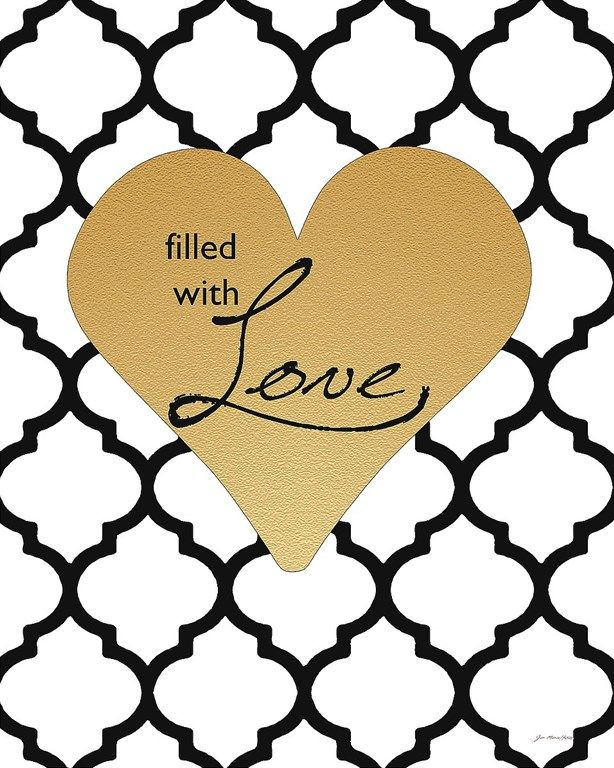 Jo Moulton Faux Gold Filled with Love | White and Black | Pinterest ...