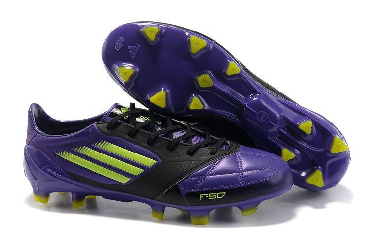 d7193cd2b Adidas F50 Adizero miCoach Messi VI Kangaroo leather Purple Black TRX FG