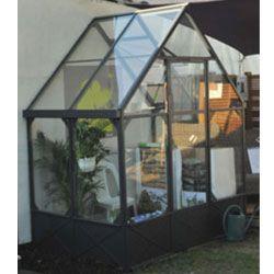 Serre Adossee Fabulous Garden Aluminium Gris Et Vert De 2 94m2