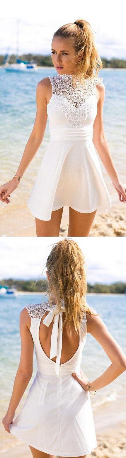 A-line Prom Dresses, White A-line/Princess Homecoming ...