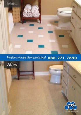 Don T Replace Refinish Ceramic Tile Refinishing And Resurfacing Is Not Only More Practical But Also Less Expensive Than New You Can Avoid The