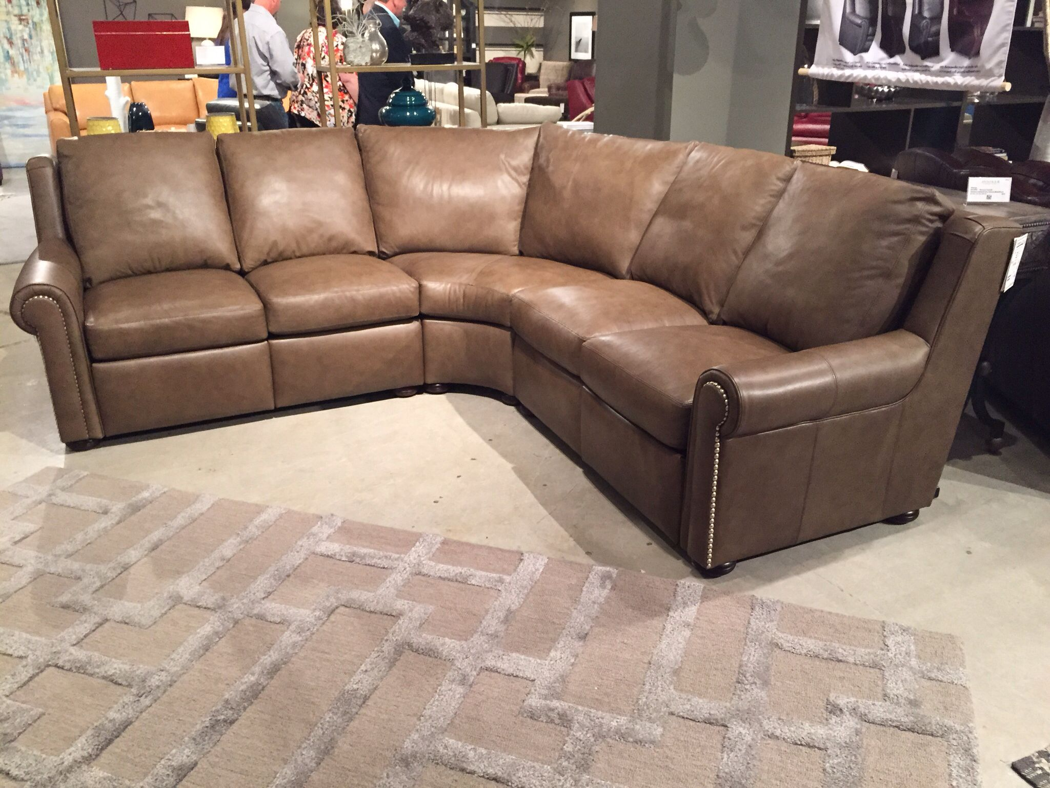 Whitaker Reclining Setional Leather Reclining Furniture