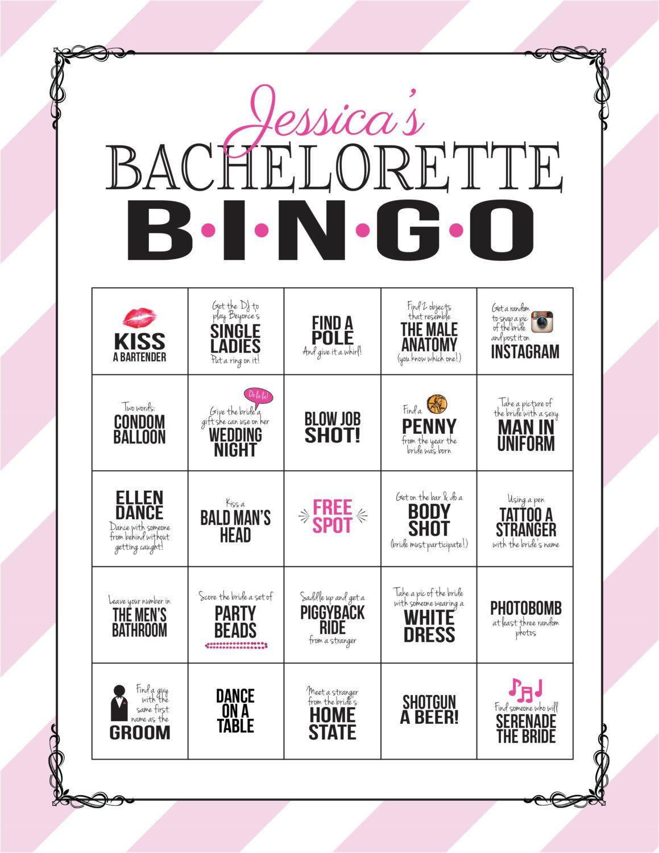 Photo of Bachelorette-Partyspiel: Bingo-Einkaufswagenblatt (digitale Datei, selbst ausdrucken!) Bachelorette-Spiel mit rosa und schwarzer Spitze