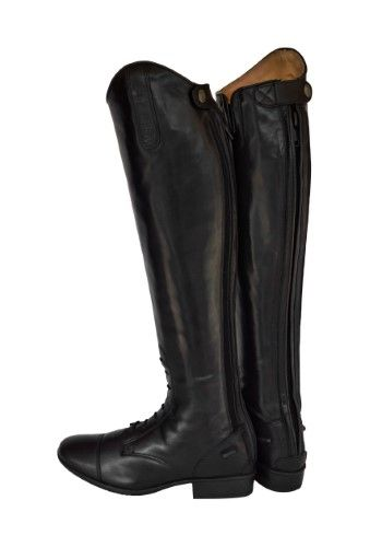 Treadstone Womens English Horse Saddle Riding Boots Black Leather Field Boots