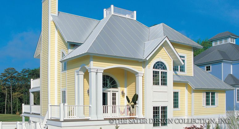 Aruba bay house plan elevation plan luxury and house for Beach house elevations