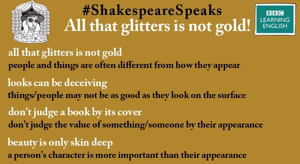 Expression All That Glitter I Not Gold Learn English Other Way To Say Essay On