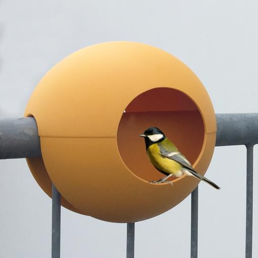 birdball design balkon vogelhaus futterhaus f r balkongel nder balcony birdfeeder shop. Black Bedroom Furniture Sets. Home Design Ideas