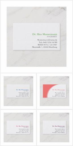 Arzt Visitenkarten Visitenkarten Visitenkarten Karten